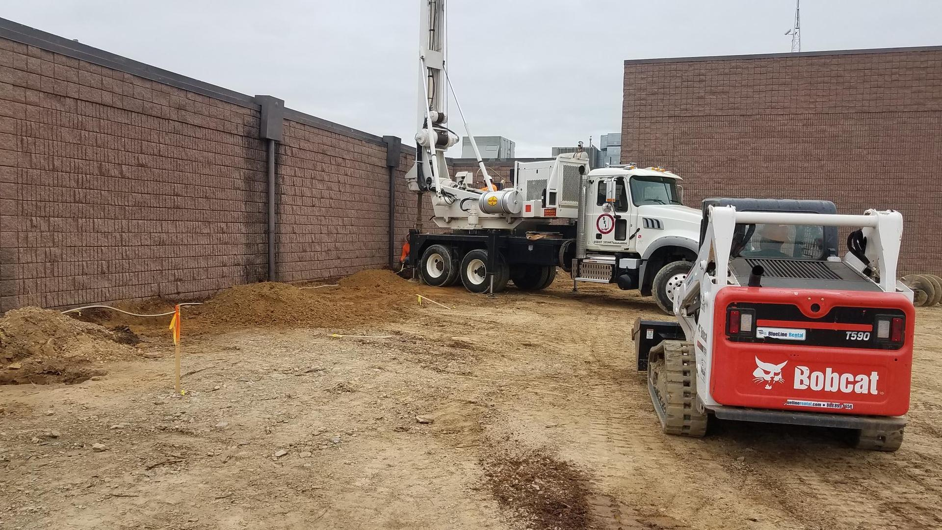 drilling piers at Smith for the new Safe Gym