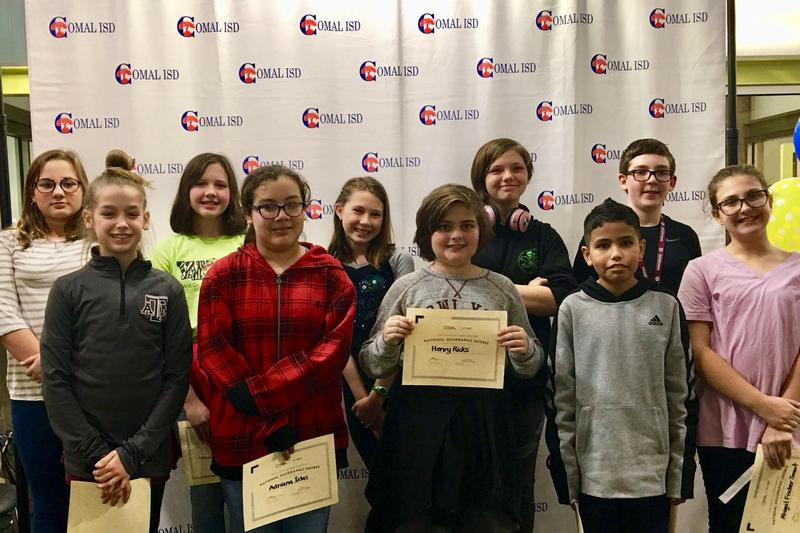 Danville Middle School top 10 GeoBee finalists