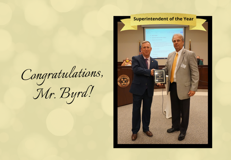 Congratulations to our Superintendent, Mr. Mark Byrd! Thumbnail Image