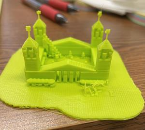 3D printed 4th grade mission project