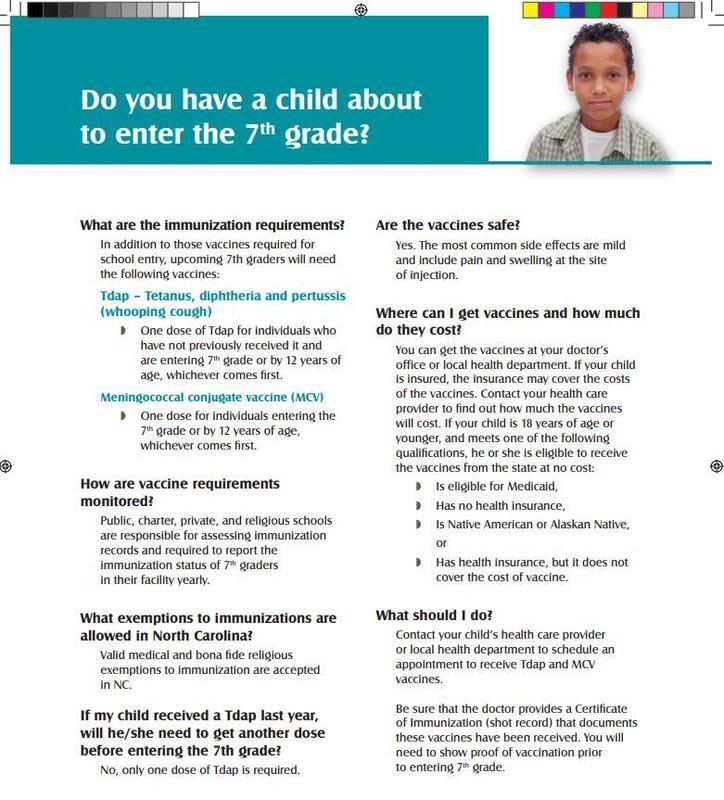 Rising 7th Grade Immunization Information Featured Photo