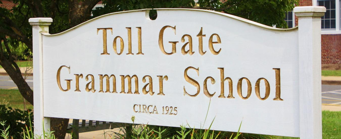 Toll Gate Grammar School sign