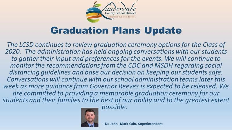 LCSD Graduation Plans Update Graphic