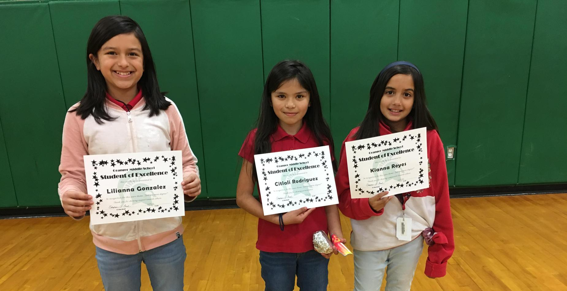 5th Grade Students of Excellence