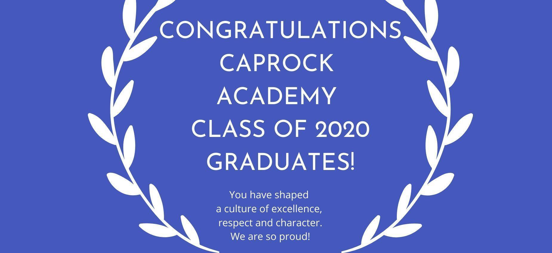 Caprock graduate yard sign
