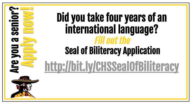 Seniors - Apply Now for the Seal of Biliteracy Featured Photo