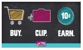 Box Tops slogan, Buy Clip Earn