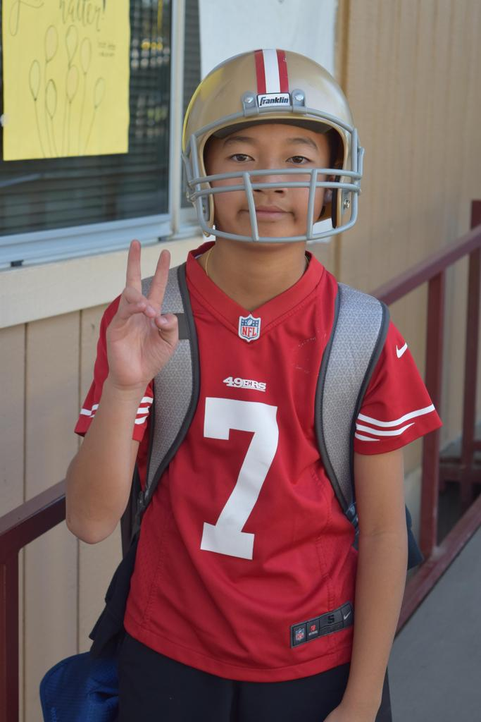 A CCA student dressed up as Colin Kaepernick.
