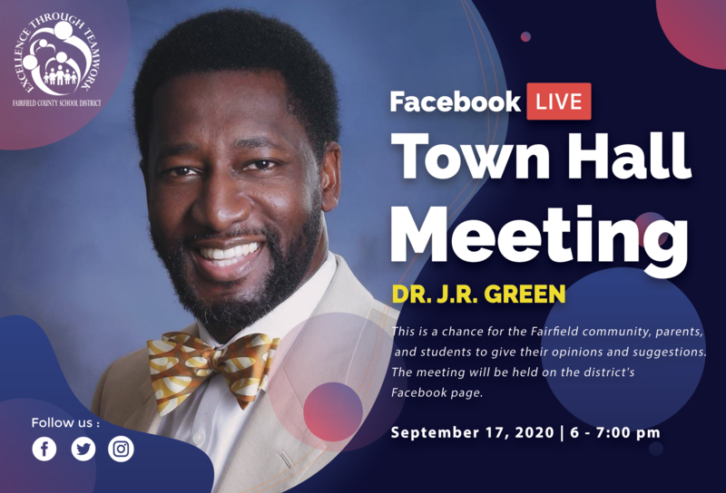 FCSD Facebook Live Town Hall Meeting with Dr. J.R. Green. Featured Photo