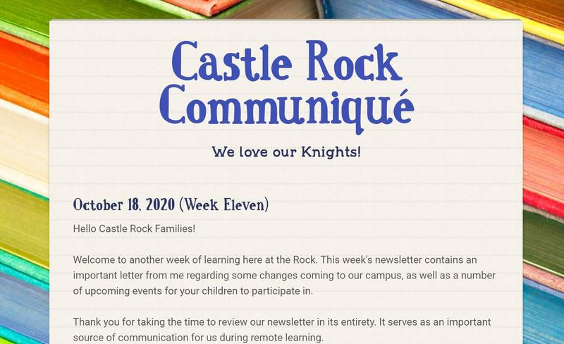 Weekly Newsletter, Dated 10-18-2020 Featured Photo