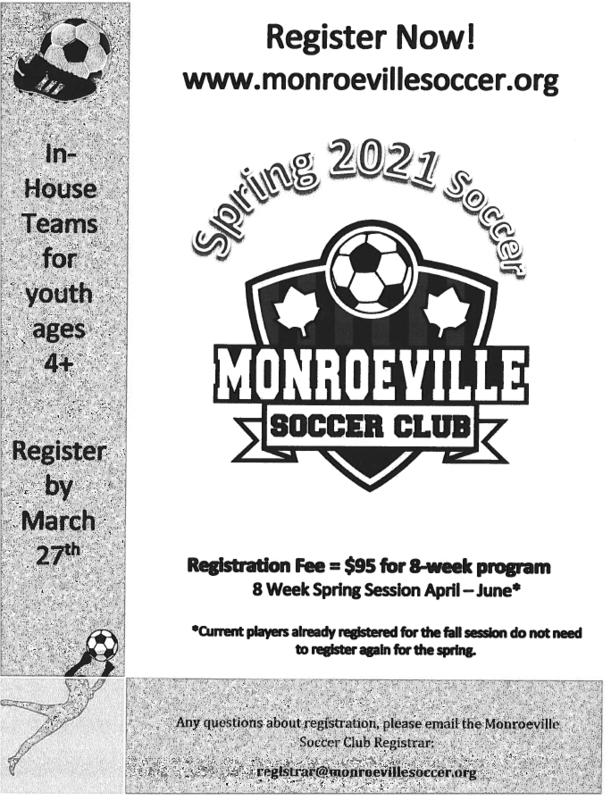 Monroeville Soccer Flyer