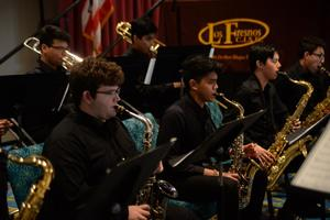 William Gutierrez plays saxophone for LFHS Band.