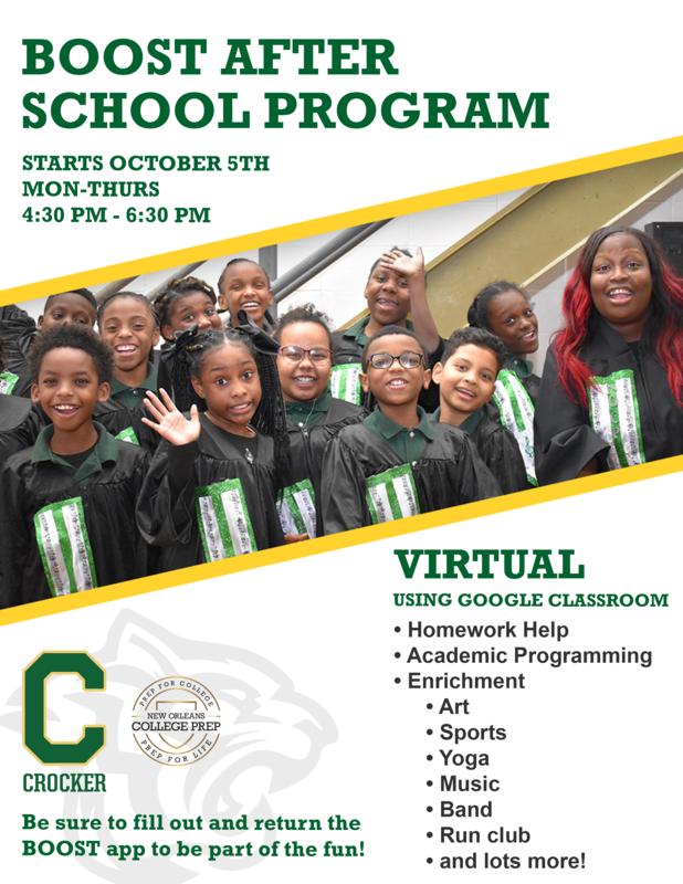 Crocker Boost After School Program Starts October 5, 2020 VIRTUALLY Featured Photo