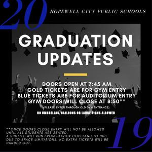 Graduation updates
