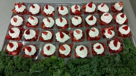 Yummy strawberries at Wheat Middle School