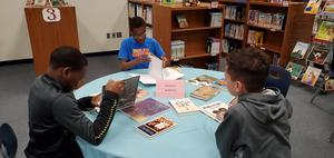 students take part in book tasting at legacy