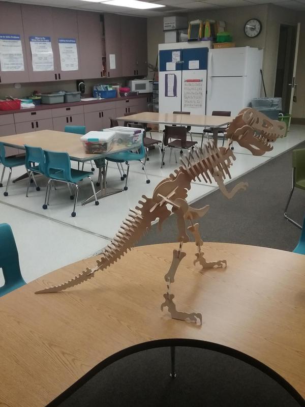 Wooden Model of a T-Rex
