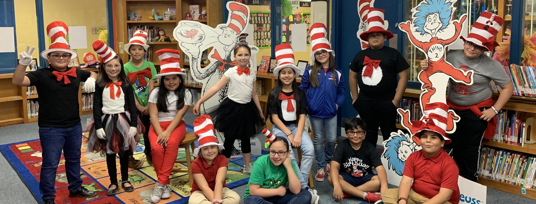 Fifth graders celebrate Read Across America