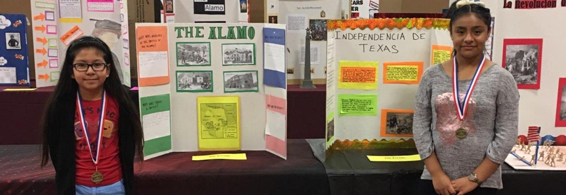4th grade students at the history fair