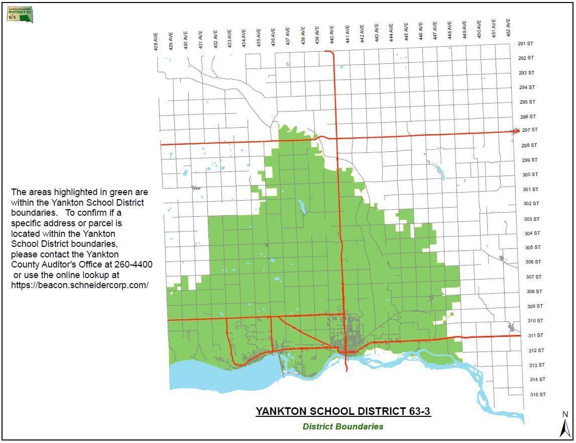 YSD Boundaries Map