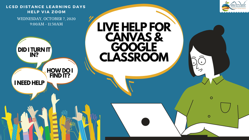 Live Canvas and Google Classroom Help Graphic
