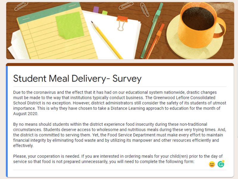GLCSD Student Meal Delivery Survey Featured Photo
