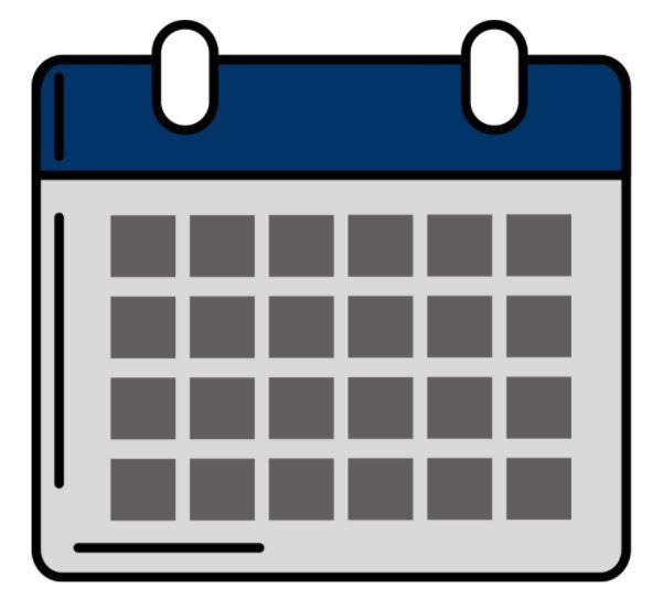 Grey and navy blue calendar image