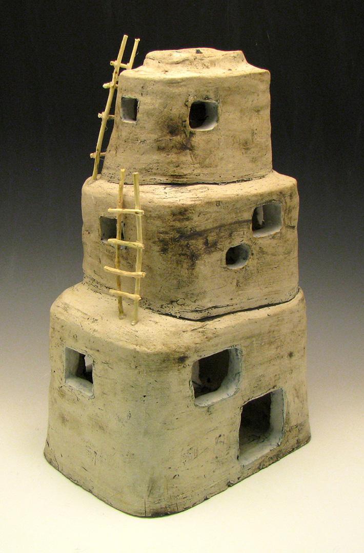 clay pueblo lantern