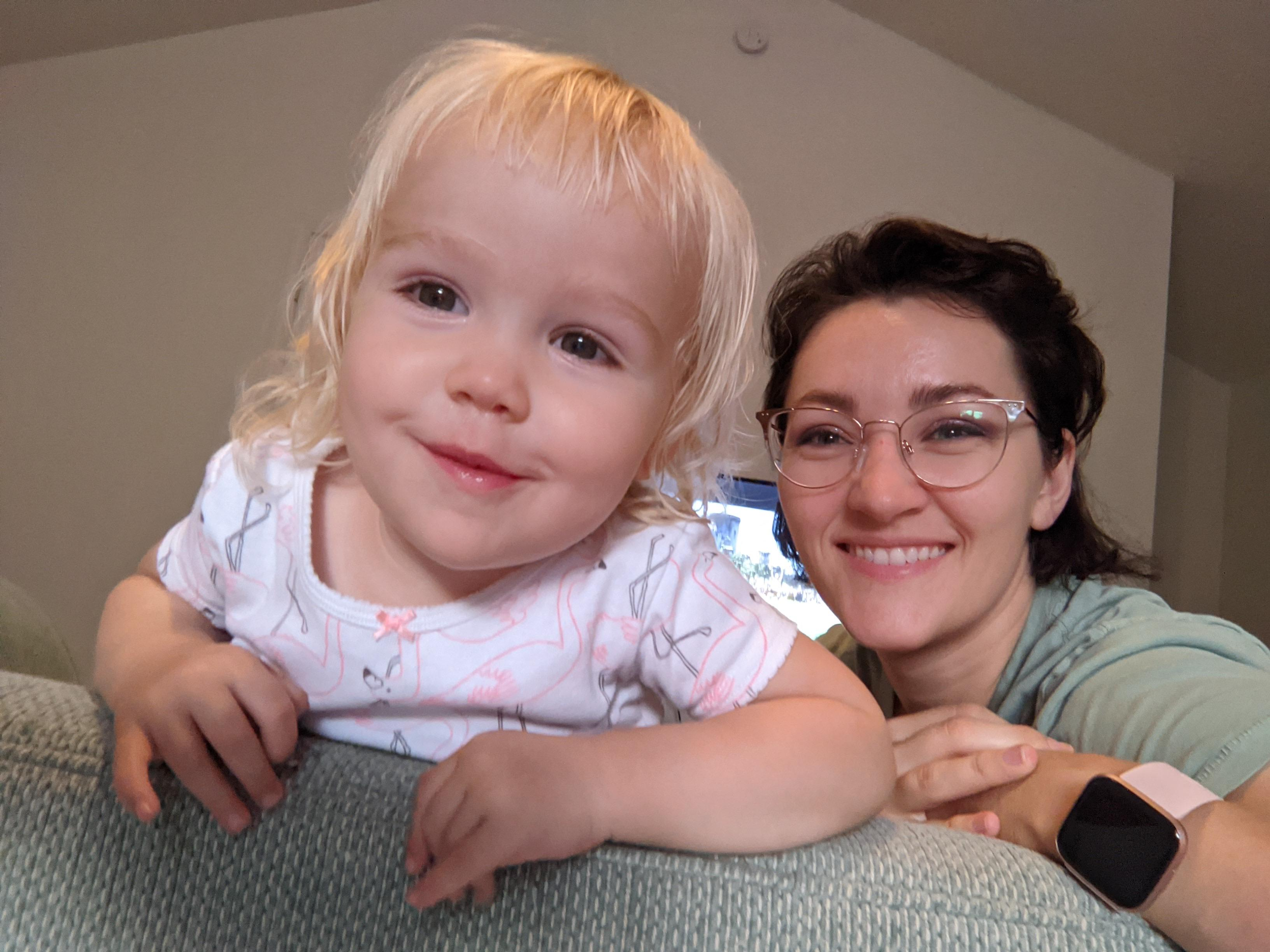 Picture of Miss Gillen and young daughter Ruby