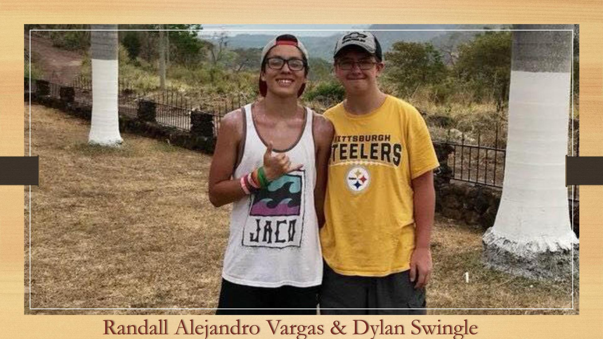A photo of a Costa Rican student with their Honeoye Host