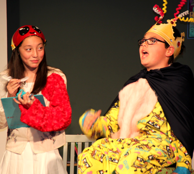 Children acting in a play