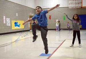 Primary Center students learn how to jump rope.