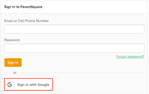 Sign in with Google Example