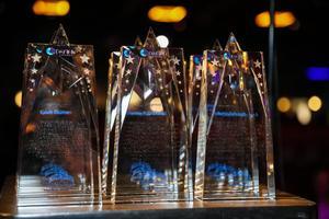 closeup of the Danny Awards