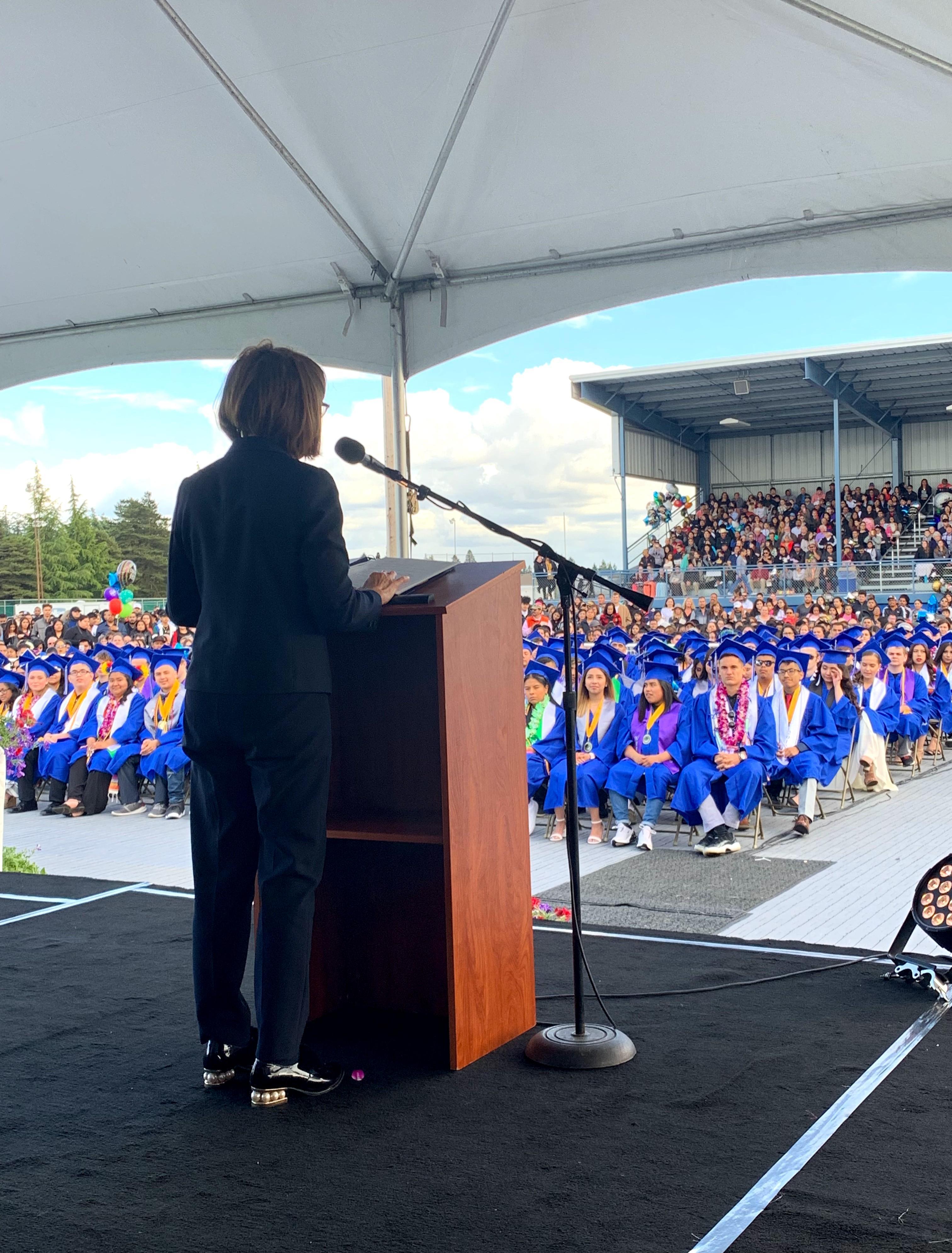 Gov. Kate Brown at Graduation