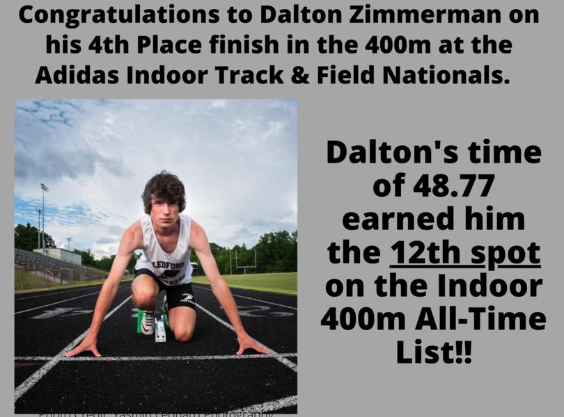 Dalton Zimmerman places 4th at Nationals!