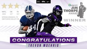 Twitter post from TCU honoring Trevon Moehrig
