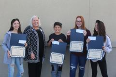 Students received awards from the Hemet Woman's Club Youth Writing Contest.