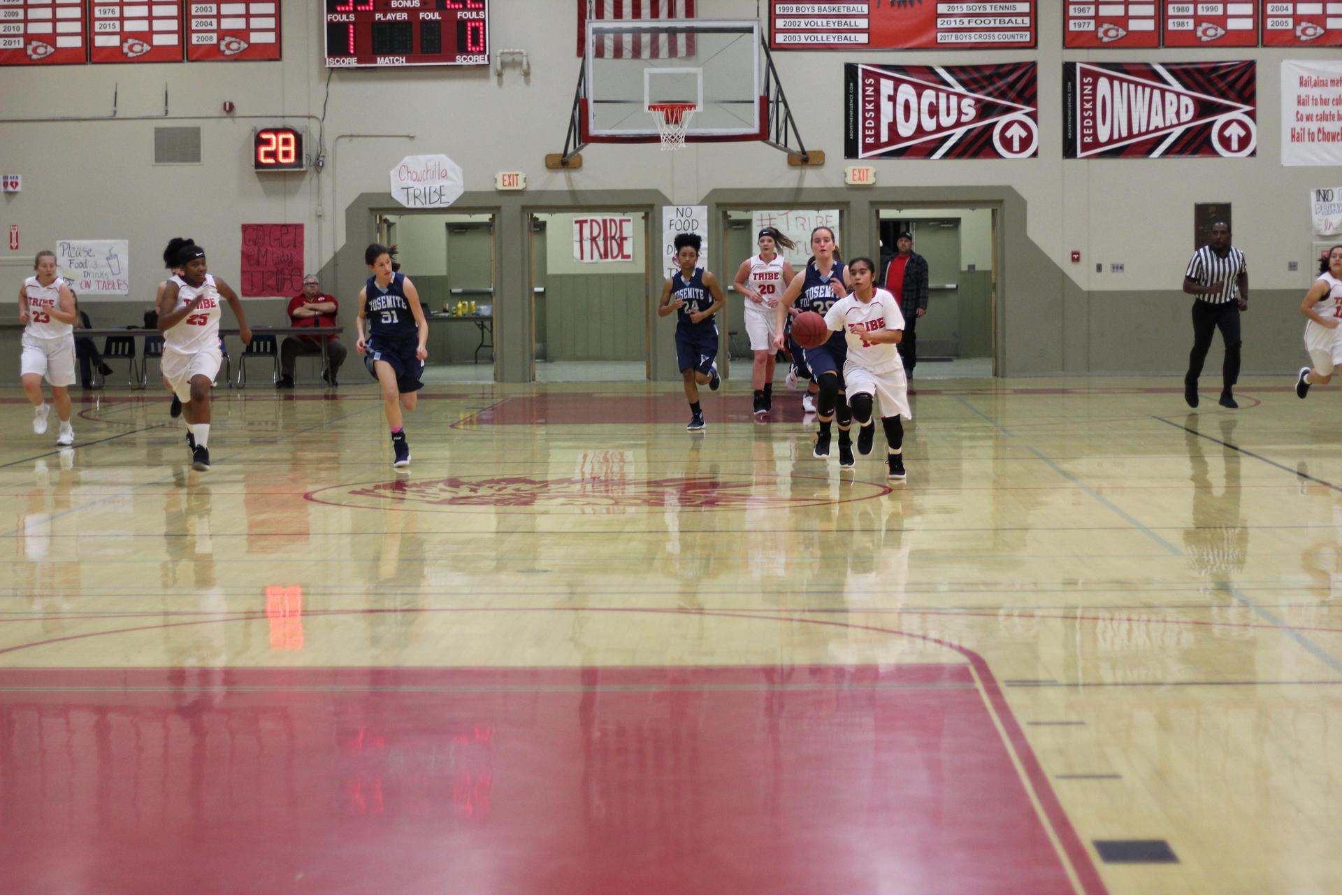 Chowchilla High Athletes at Basketball game vs Yosemite