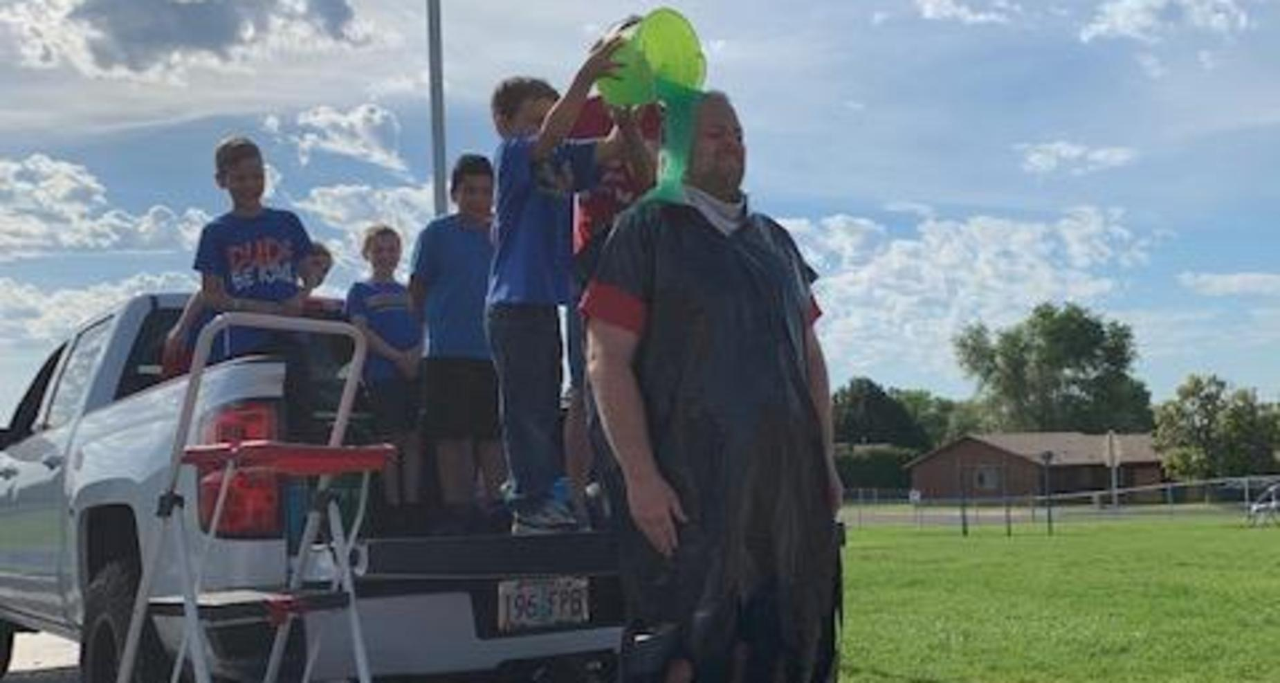 Mr. Farley gets slimed.