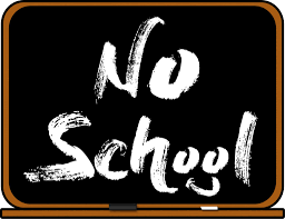 No School on chalkboard