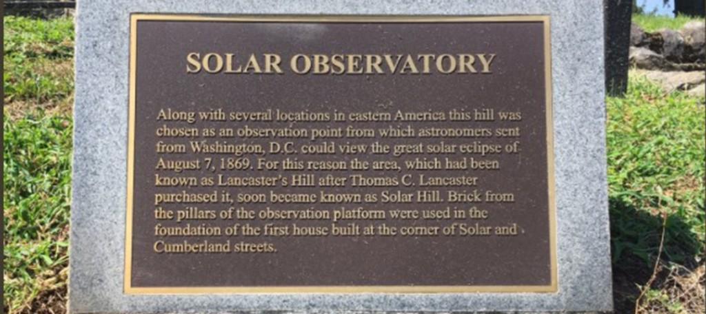 Solar Hill Marker