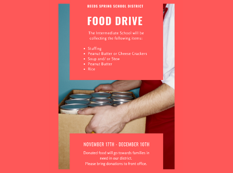 flyer for food drive
