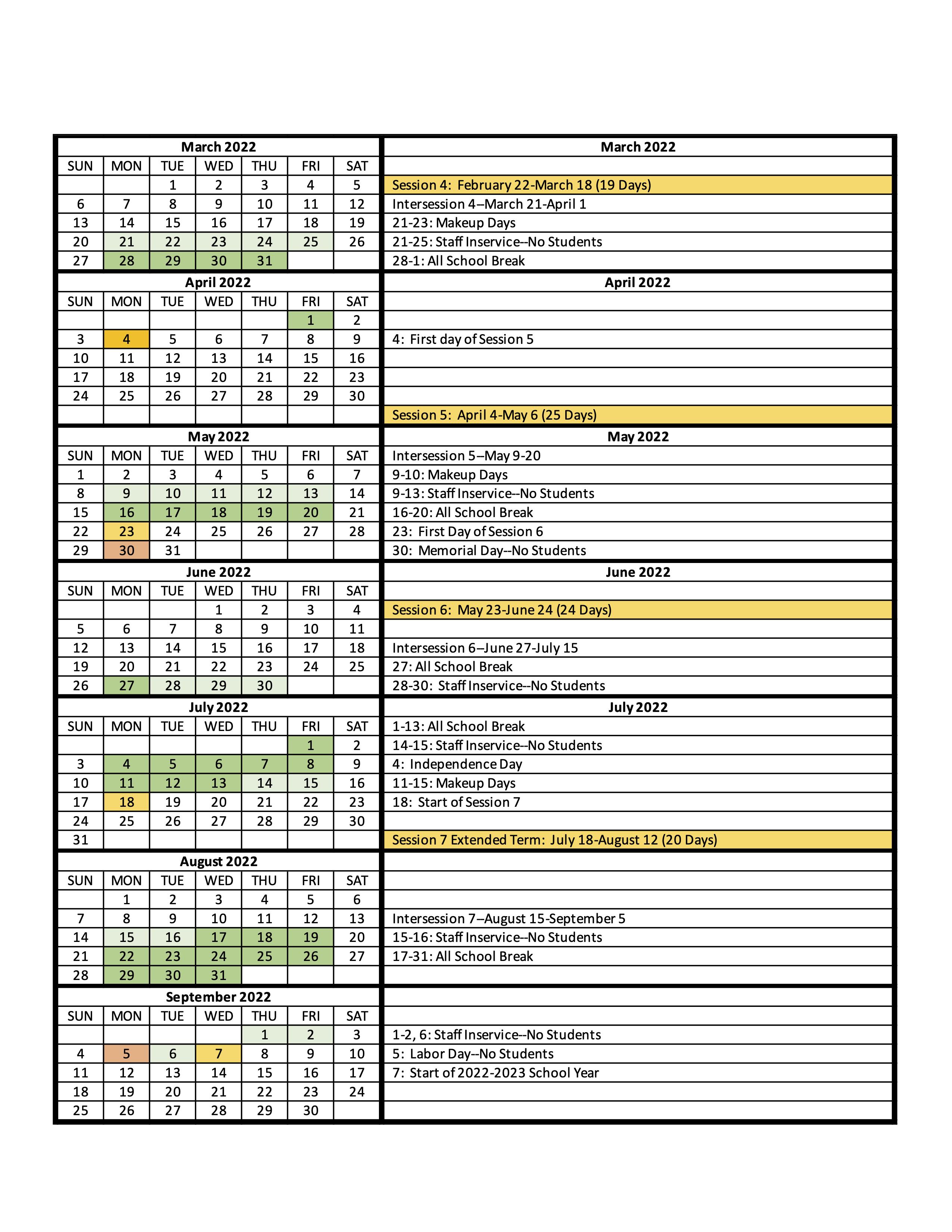 Calendar pg 2