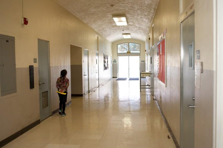 Hallways in Garfield School