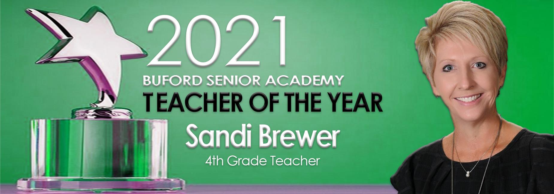 Teacher of the Year Sandi Brewer