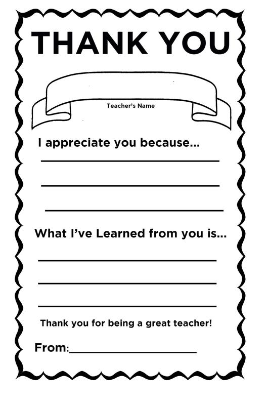 Teacher Card Template