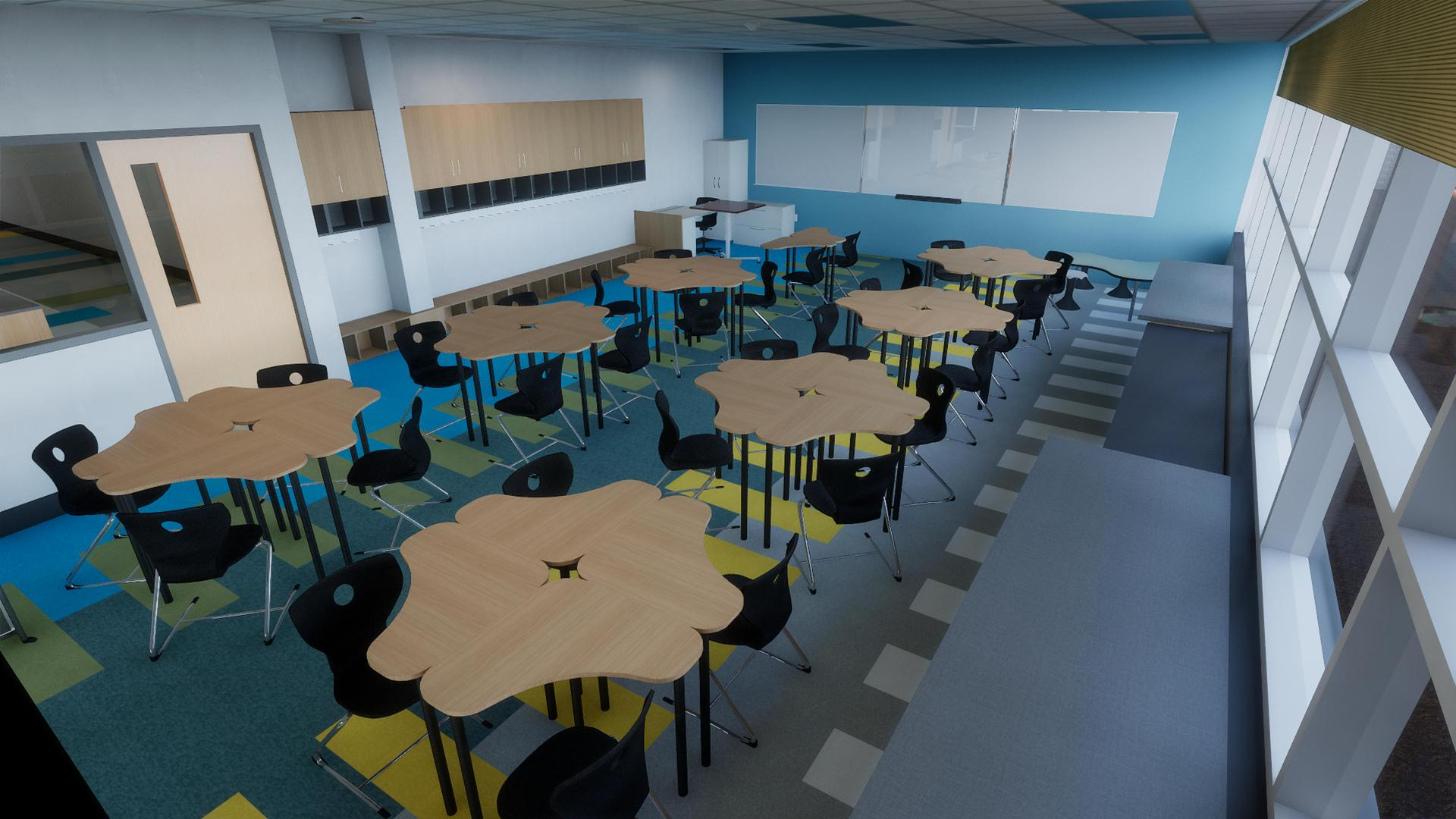 Concept photo of Classroom (front view)