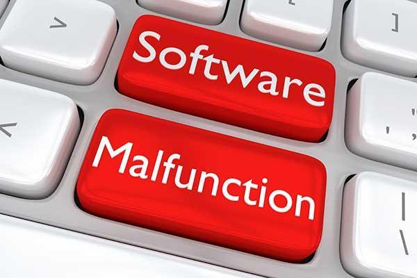 """2 Buttons that say """"Software Malfunction"""""""