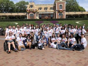 Members of UHS Vocal Ensemble and UHS Concert Choir relax at Disneyland after bringing home Gold and Silver ratings from the recent Forum Music Festival in Fullerton, CA.